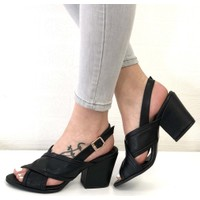Mio Gusto Elita Siyah Topuklu Ayakkabı