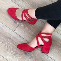 Mio Gusto Nina Kırmızı Topuklu Ayakkabı