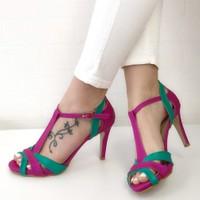 Mio Gusto Octavia Fuşya Topuklu Ayakkabı
