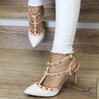 Mio Gusto Tina Beyaz Topuklu Ayakkabı