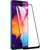 Dafoni Samsung Galaxy A50 Curve Tempered Glass Premium Siyah Full Cam Ekran Koruyucu