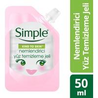Simple Kind To Skin Mini Nemlendirici Yüz Temizleme Jeli 50 Ml - Seyahat Boyu