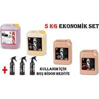 Newmix Hızlı Cila-Jant Temizleyici-Lastik Parlatıcı-Cilalı Fırçalı Şampuan 5 kg