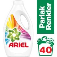 Ariel 40 Yıkama Sıvı Çamaşır Deterjanı Parlak Renkler