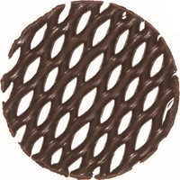 Callebaut Bitter Çikolatadan Dekor - Cake Top Round - 0.78 kg