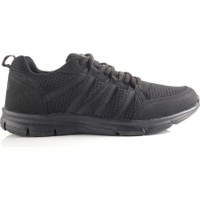 Lotto T0825 Hara Siyah Erkek Yürüyüş Ve Koşu Spor Ayakkabı Siyah