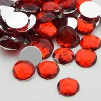 Can Kristal Görünümlü Süsleme Taşı Kırmızı 1,5 cm 100 Adet