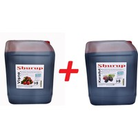 Shurup Konsantre Meyve Aromalı İçecek 6 kg Vişne+Karadut(2' li)