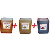 Shurup Konsantre Meyve Aromalı İçecek 6 kg Portakal + Limon + Vişne ( 3' lü)