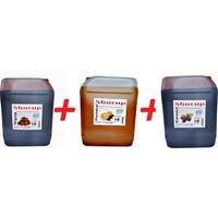 Shurup Konsantre Meyve Aromalı İçecek 6 kg Karadut +Vişne + Portakal ( 3' lü)