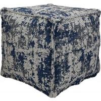 Koza Halı Casa Cotton Lacivert-Antrasit Küp Puf B2694A