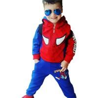 Lavinya Örümcek Adam Çantalı Kapşonlu Çocuk Eşofman Takımı