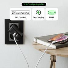 Spigen Essential Apple USB-C to Lightning PD (Power Delivery Destekli) Hızlı Şarj ve Data Kablo MFI Lisanslı (1 Metre) C10CL - 000CA25416