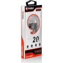 Ktools Mini 2A 20 cm Siyah Micro USB Data Otg Kablo