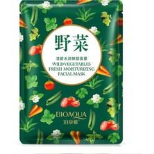 Bioaqua Yabani Sebzeli Tazelik ve Nem Maskesi-Koyu Yeşil 30 gr