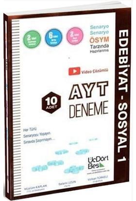 ÜçDörtBeş Yayınları AYT Edebiyat - Sosyal 1 10'lu Deneme