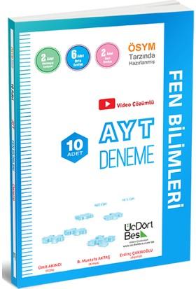 ÜçDörtBeş Yayınları AYT Fen Bilimleri 10'lu Deneme