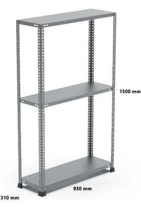 Rafçızade Çelik Raf 31 x 93 1.5 mt Yükseklik 3 Katlı