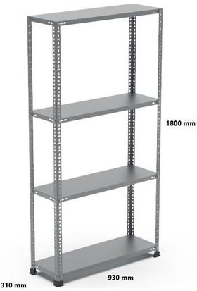 Rafçızade Çelik Raf 31 x 93 1.8 mt Yükseklik 4 Katlı