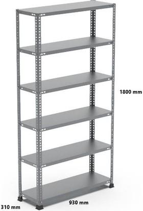 Rafçızade Çelik Raf 31 x 93 1.8 mt Yükseklik 6 Katlı