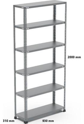 Rafçızade Çelik Raf 31 x 93 2 mt Yükseklik 6 Katlı