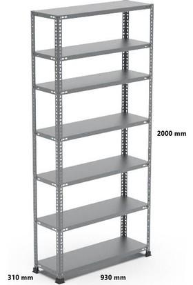 Rafçızade Çelik Raf 31 x 93 2 mt Yükseklik 7 Katlı