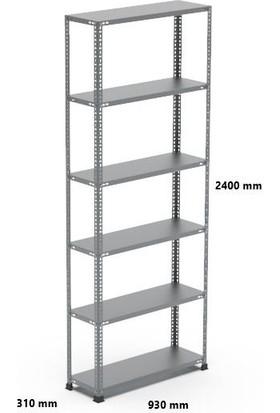 Rafçızade Çelik Raf 31 x 93 2.4 mt Yükseklik 6 Katlı