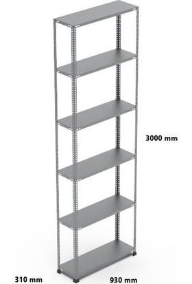 Rafçızade Çelik Raf 31 x 93 3 mt Yükseklik 6 Katlı