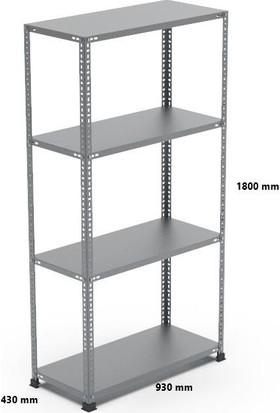 Rafçızade Çelik Raf 43 x 93 1.8 mt Yükseklik 4 Katlı