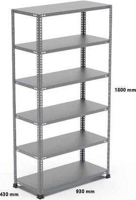 Rafçızade Çelik Raf 43 x 93 1.8 mt Yükseklik 6 Katlı