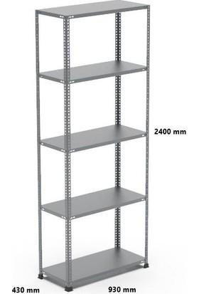 Rafçızade Çelik Raf 43 x 93 2.4 mt Yükseklik 5 Katlı