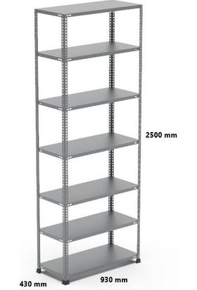 Rafçızade Çelik Raf 43 x 93 2.5 mt Yükseklik 7 Katlı