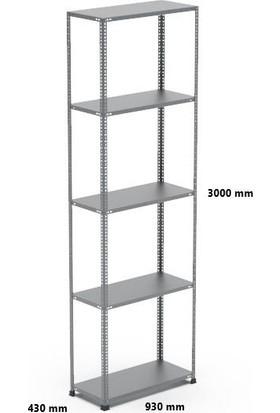 Rafçızade Çelik Raf 43 x 93 3 mt Yükseklik 5 Katlı