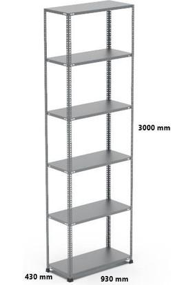 Rafçızade Çelik Raf 43 x 93 3 mt Yükseklik 6 Katlı