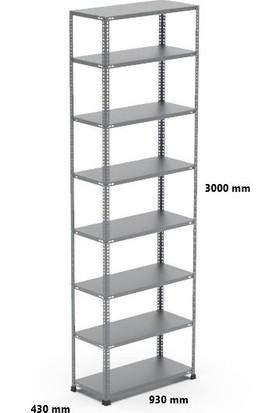 Rafçızade Çelik Raf 31 x 93 3 mt Yükseklik 8 Katlı