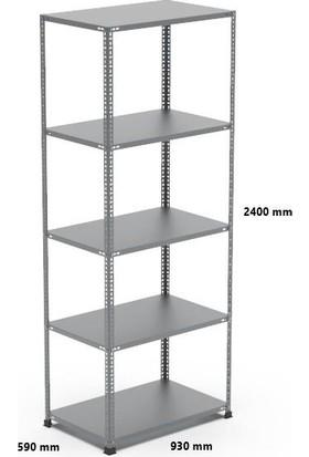 Rafçızade Çelik Raf 59 x 93 2.4 mt Yükseklik 5 Katlı