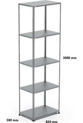 Rafçızade Çelik Raf 59 x 93 3 mt Yükseklik 5 Katlı