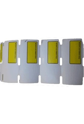 Teknofis Sarı Pencereli Raf Etiketi 38 x 80 cm