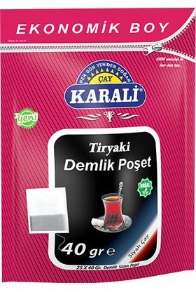 Karali Tiryaki Jumbo Demlik Poşet Siyah Çay 25x40 gr
