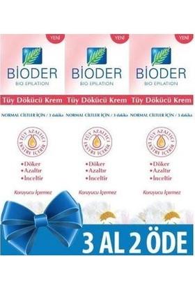 Bioder Normal Ciltler İçin Tüy Dökücü Krem 3*100 ml