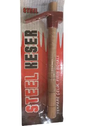 Roltin Steel Kırmızı Boyalı Çelik Keser