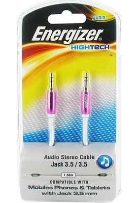 Energizer LCAEHJACKPK2 Hightech Audio Stereo 3,5mm JACK to 3,5mm JACK 1.5m Pembe Ses Kablosu