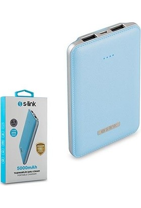 S-Lınk 5000Mah Powerbank Mavi Taşınabilir Pil Şarj Cihazı