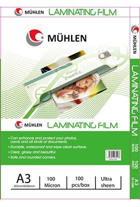 Mühlen A3 Laminasyon Filmi 100 Micron 1 Paket 100 Adet