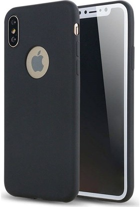 Mobicaps Apple iPhone XS Max Premier Silikon Kılıf - Siyah