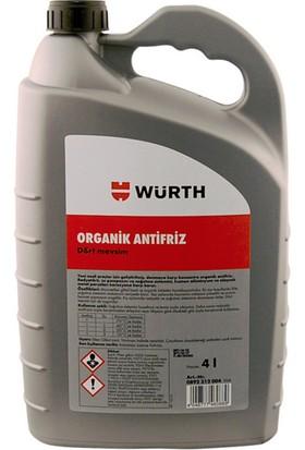 Würth Organik Antifriz 4 Litre Kırmızı