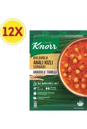 Knorr Bulgurlu Analı Kızlı Çorba 12 Paket