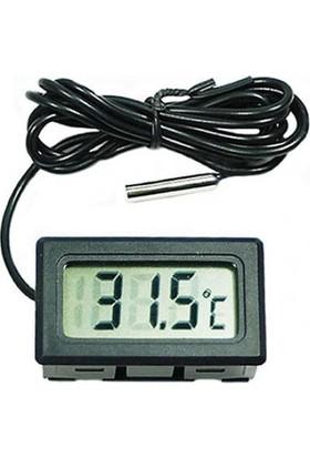 GOB2C LCD Mini Dijital Termometre Cihazı Siyah