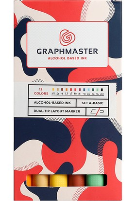 Graphmaster Alcohol Based Ink Markör 12Li Set-A