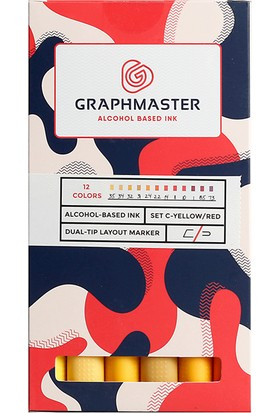 Graphmaster Alcohol Based Ink Markör 12Li Set-C